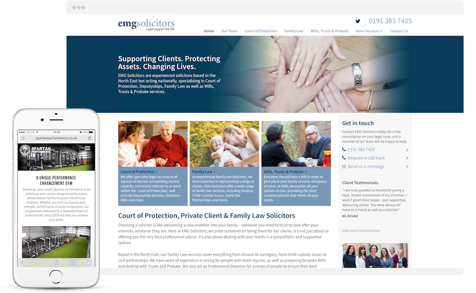 web design newcastle north east websites
